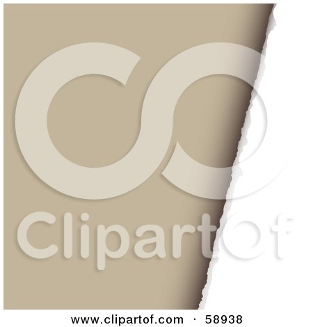 Royalty-Free (RF) Clipart Illustration of a Background Of Torn Paper Against Brown - Version 1 by michaeltravers