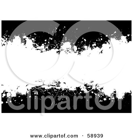 Royalty-Free (RF) Clipart Illustration of a Black And White Ink Splatter Background, Version 1 by michaeltravers