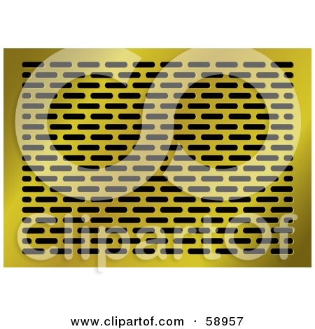 Royalty-Free (RF) Clipart Illustration of a Golden Grid Background by michaeltravers