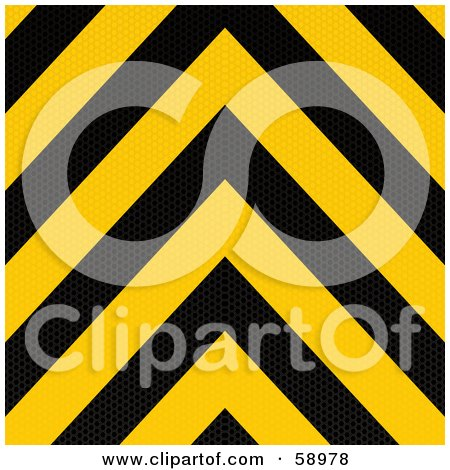 Royalty-Free (RF) Clipart Illustration of a Red And Yellow Warning Stripe Background by michaeltravers