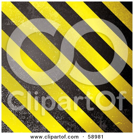 Royalty-Free (RF) Clipart Illustration of a Black And Yellow Warning Stripe Background - Version 2 by michaeltravers