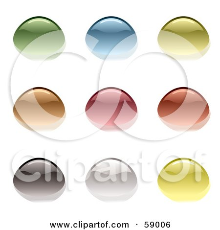 Royalty-Free (RF) Clipart Illustration of a Digital Collage Of Colorful And Reflective Water Droplets by michaeltravers