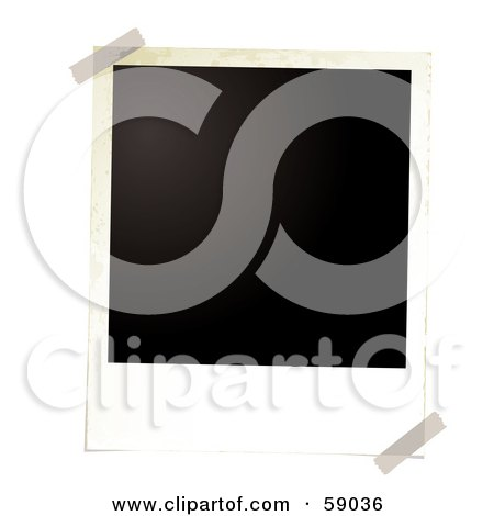 Royalty-Free (RF) Clipart Illustration of a Blank Polaroid Background - Version 1 by michaeltravers