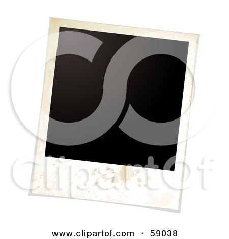 Royalty-Free (RF) Clipart Illustration of a Blank Polaroid Background - Version 2 by michaeltravers