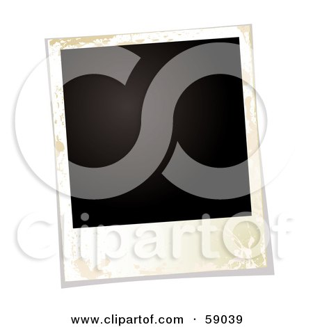 Royalty-Free (RF) Clipart Illustration of a Blank Polaroid Background - Version 3 by michaeltravers