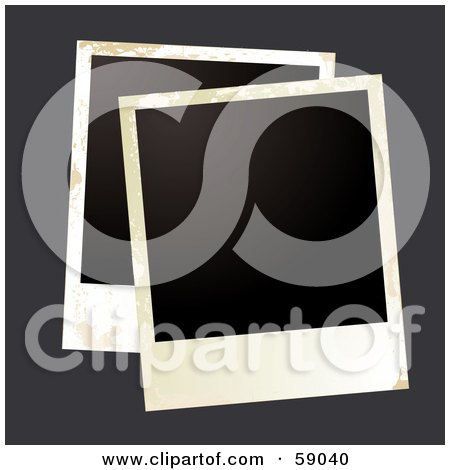 Royalty-Free (RF) Clipart Illustration of a Blank Polaroid Background - Version 5 by michaeltravers