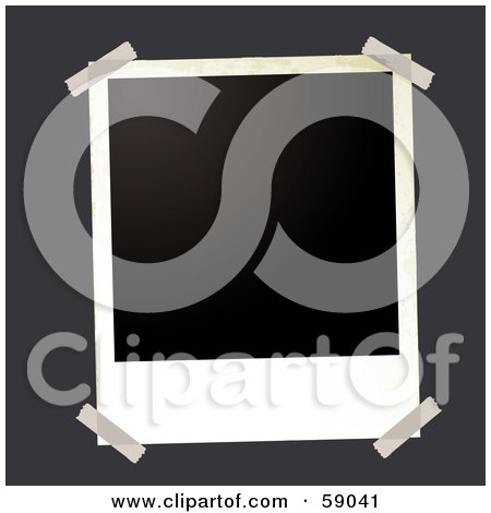 Royalty-Free (RF) Clipart Illustration of a Blank Polaroid Background - Version 6 by michaeltravers