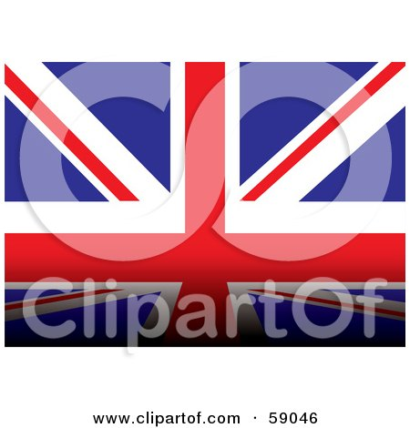 Royalty-Free (RF) Clipart Illustration of a Union Jack Flag Background With A Dark Bottom Edge by michaeltravers