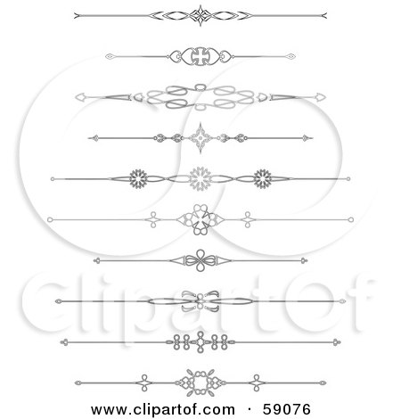 Royalty-Free (RF) Clipart Illustration of a Digital Collage Of Black And White Page Rule Designs by Frisko