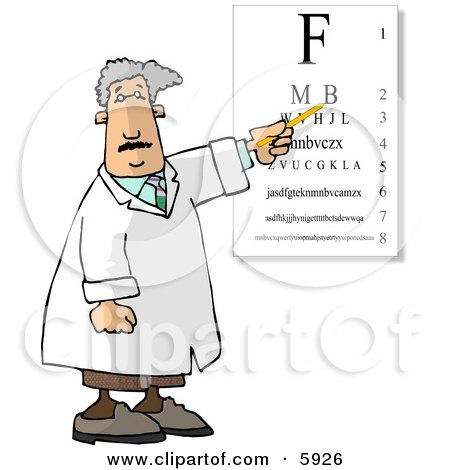 Examination of Eyes in an Ophthalmology Clinic Clipart Picture by djart