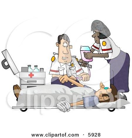 Emergency Medical Technicians (EMTs) Treating a Patient Posters, Art Prints