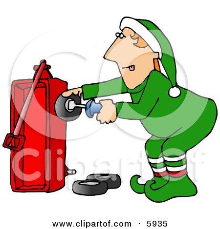 Royalty-Free (RF) Clipart of Santas Elves, Illustrations, Vector ...