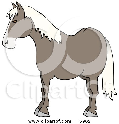 Profile of a Horse's Side Clipart Picture by djart