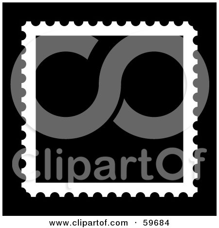 Postage Stamp Clip Art Black And White Royalty-Free (RF) Clip...