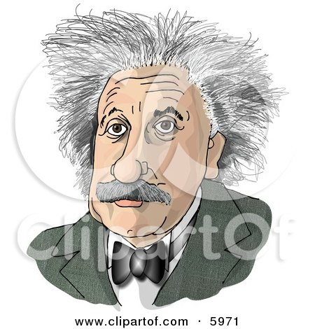 Albert Einstein Clipart Picture by Dennis Cox