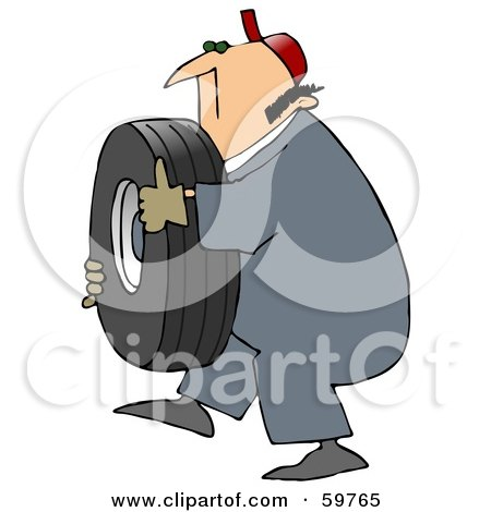 Royalty Free Rf Clipart Illustration Of A Mechanic