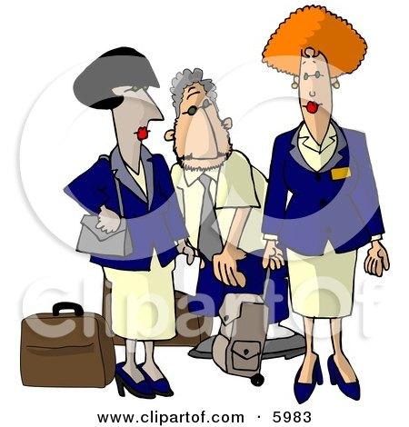 Commercial Airline Flight Attendants Clipart Picture by djart