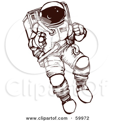 flying rocket clip art
