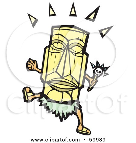 Royalty-Free (RF) Clipart Illustration of a Dancing Witch Doctor by xunantunich