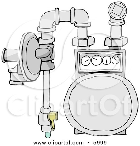 Residential Natural Gas Meter of the Usual Diaphragm Style Posters, Art Prints