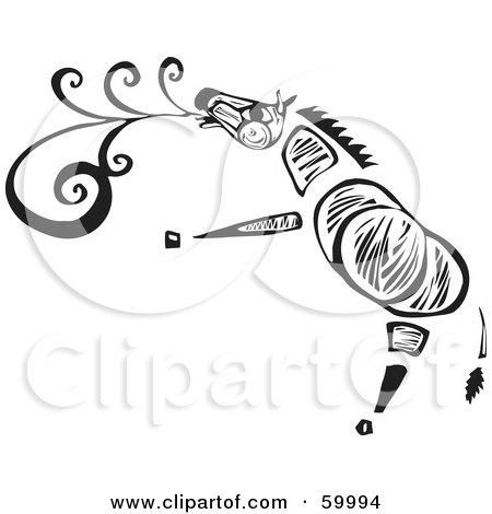 Royalty-Free (RF) Clipart Illustration of a Tribal Zebra Singing by xunantunich