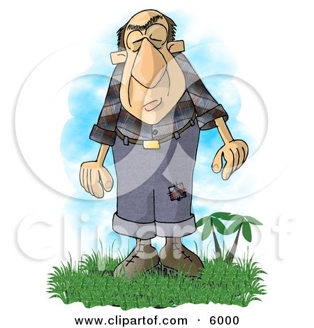 Giant Man with a Condition Known as Acromegaly Clipart Picture by djart