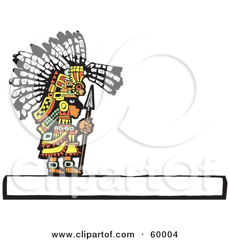 Mayan Chief Standing With A Spear Posters, Art Prints