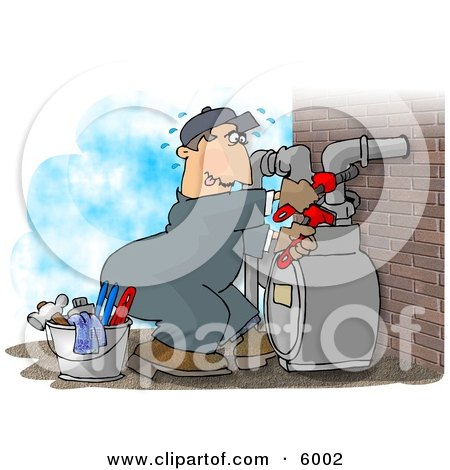 Male Worker Resetting a Residential Gas Meter Posters, Art Prints