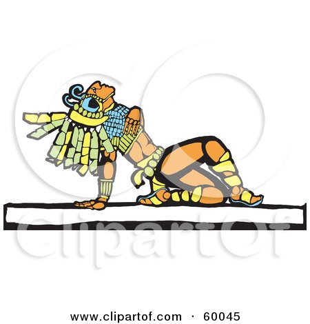 Mayan Warrior Leaning Back And Looking Upwards Posters, Art Prints