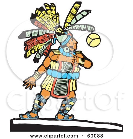 Royalty-Free (RF) Clipart Illustration of a Native Chief Playing A Ball Game by xunantunich