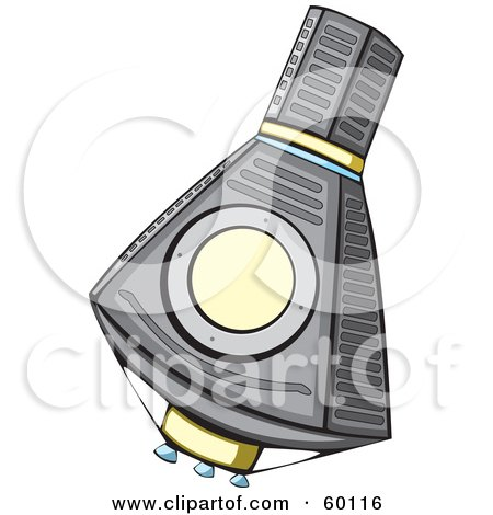 Royalty-Free (RF) Clipart Illustration of a Floating Mercury Spacecraft by xunantunich