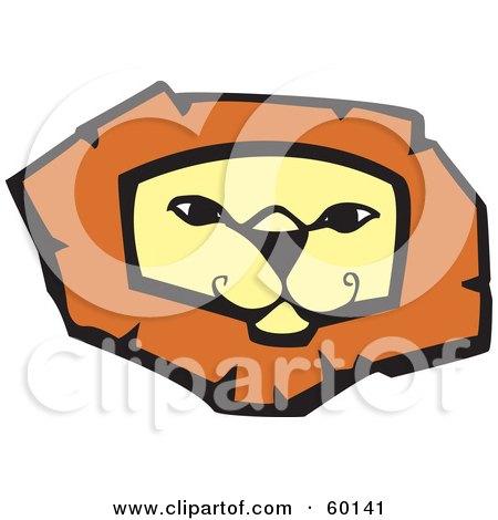 Confident Lion Face Posters, Art Prints