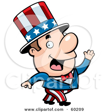 Royalty-Free (RF) Clipart Illustration of a John Man Character In An Uncle Sam Suit by Cory Thoman