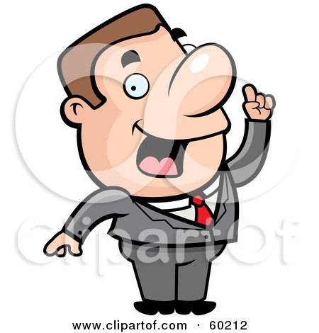 Royalty-Free (RF) Clipart Illustration of a John Man Character In A Business Suit by Cory Thoman