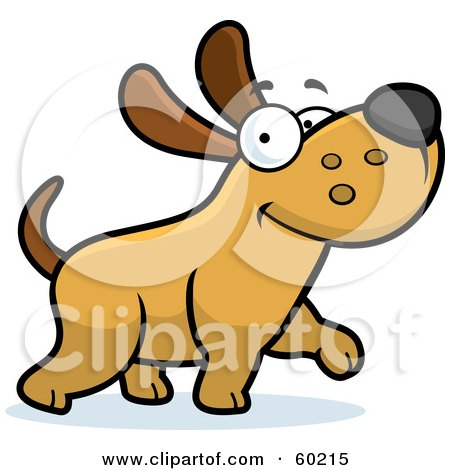 Royalty-Free (RF) Clipart Illustration of a Happy Max Dog Character Walking by Cory Thoman