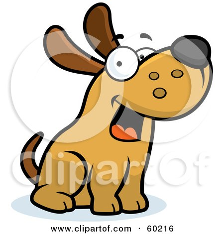 Royalty-Free (RF) Clipart Illustration of a Friendly Max Dog Character Sitting by Cory Thoman