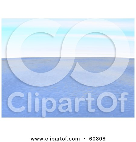 Royalty-Free (RF) Clipart Illustration of a Nature Seascape Of Rippling Ocean Water Under A Blue Sky by Jiri Moucka