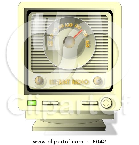 Old-fashioned Online Internet Radio Clipart Picture by djart