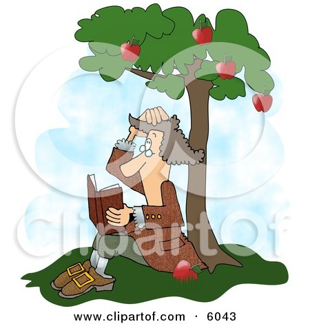 Sir Isaac Newton's Universal Law of Gravitation Clipart Picture by djart