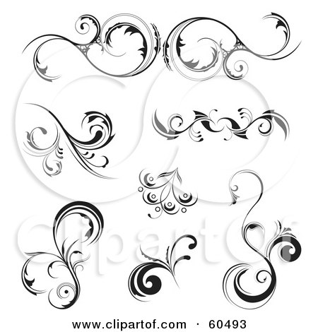 Royalty-Free (RF) Filigree Clipart, Illustrations, Vector Graphics #2