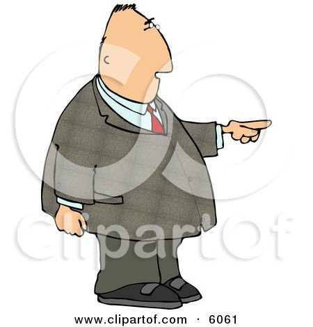 Businessman Pointing the Finger Posters, Art Prints