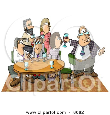 Businessman Showing Up Late to an Office Party Clipart Picture by djart