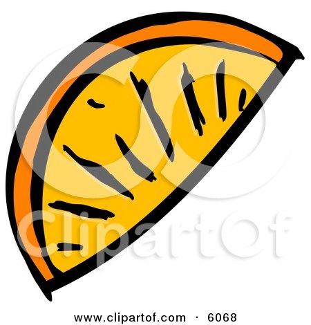 Orange Wedge Slice Clipart Picture by djart