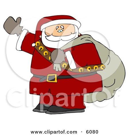 Santa Claus is Coming to Town Clipart Picture by djart