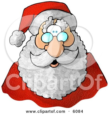 Santa Claus' Face Posters, Art Prints