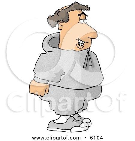 Balding Fat Man Going Jogging Clipart Picture by djart