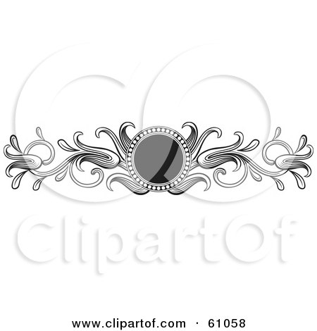 Round Black Circle With Black And White Leaves Posters, Art Prints