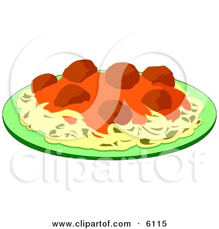 Spaghetti, Meatballs and Marinara Italian Food on a Plate Posters, Art Prints