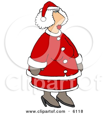 Mrs Santa Claus in Her Red and White Suit Clipart by djart