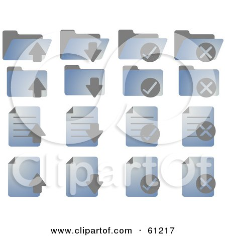 Royalty-free (RF) Clipart Illustration of a Digital Collage Of Blue Word Document Icons by Kheng Guan Toh